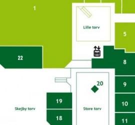 Butiksoversigt Stueplan